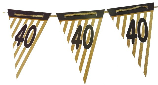 40th Anniversary Bunting