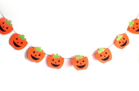 Felt Pumpkin String - Halloween Decoration