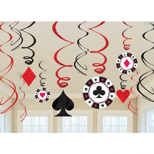 Casino Swirl Decoration ( set of 12)