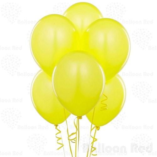 Yellow Pearl Latex Balloons -set of 10