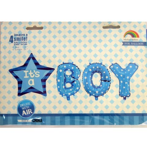 It's a Boy Letter Foil Balloon