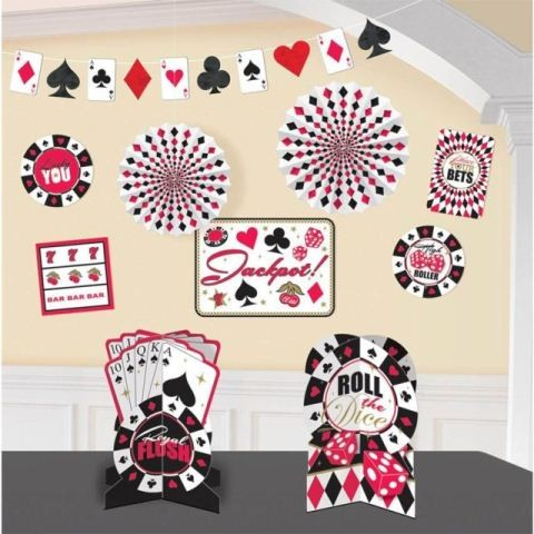 Casino Room Decorating Kit (set of 10pcs)