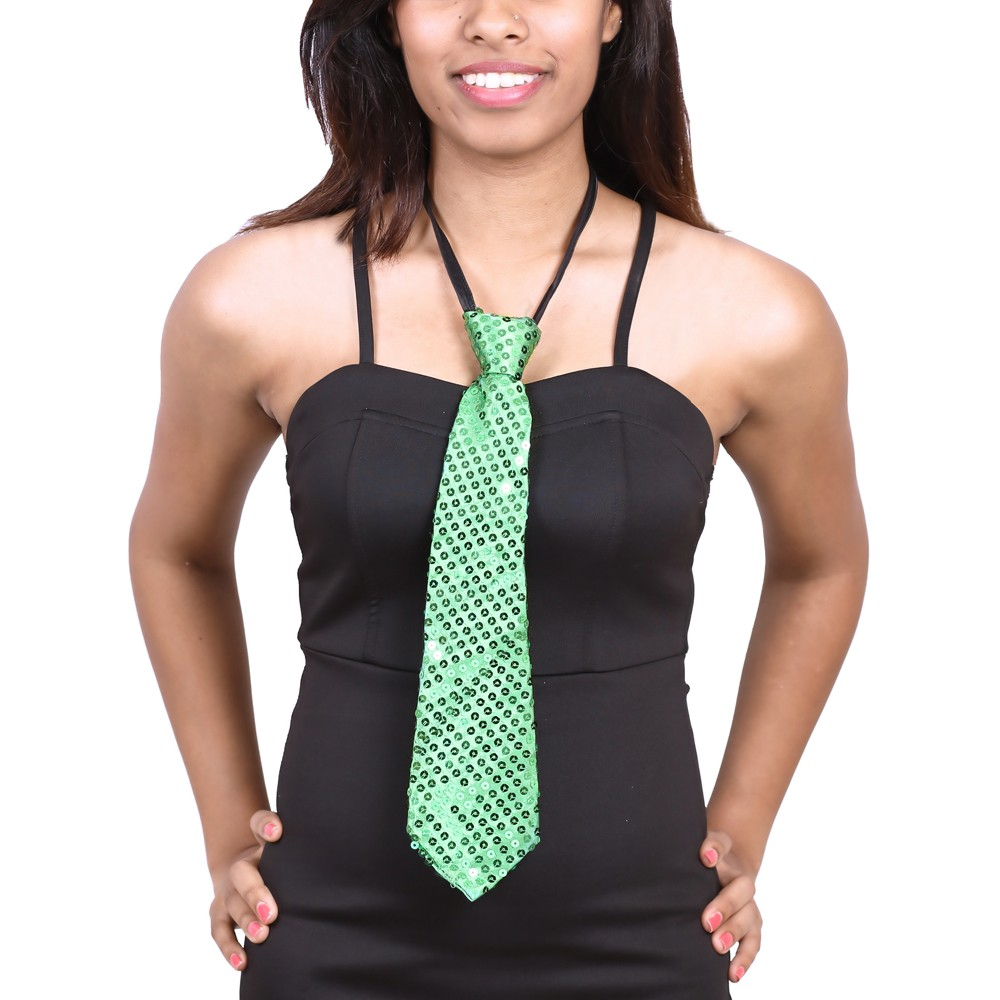 Sequence Cloth Ties - Green