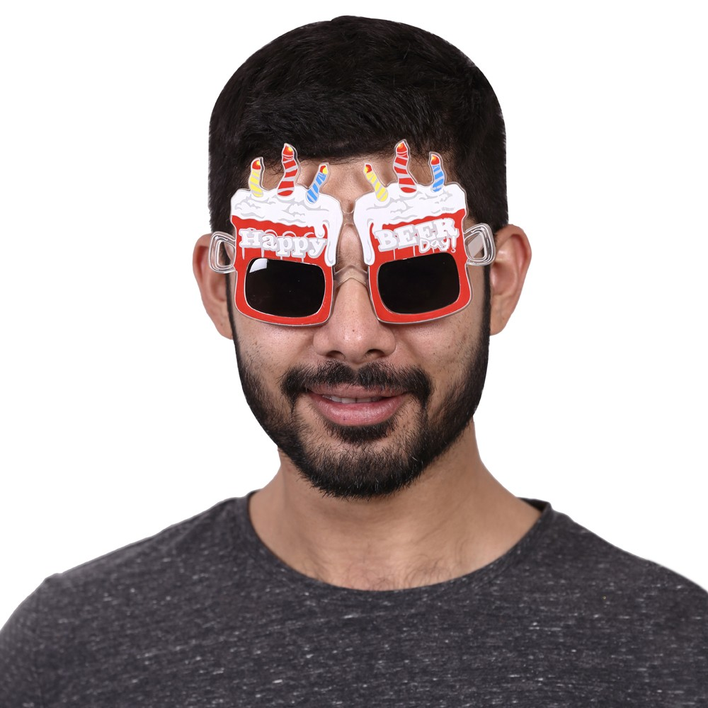 Red Beer Party glasses