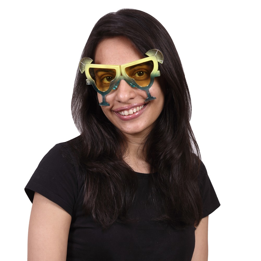 Yellow Cocktail Party Glasses
