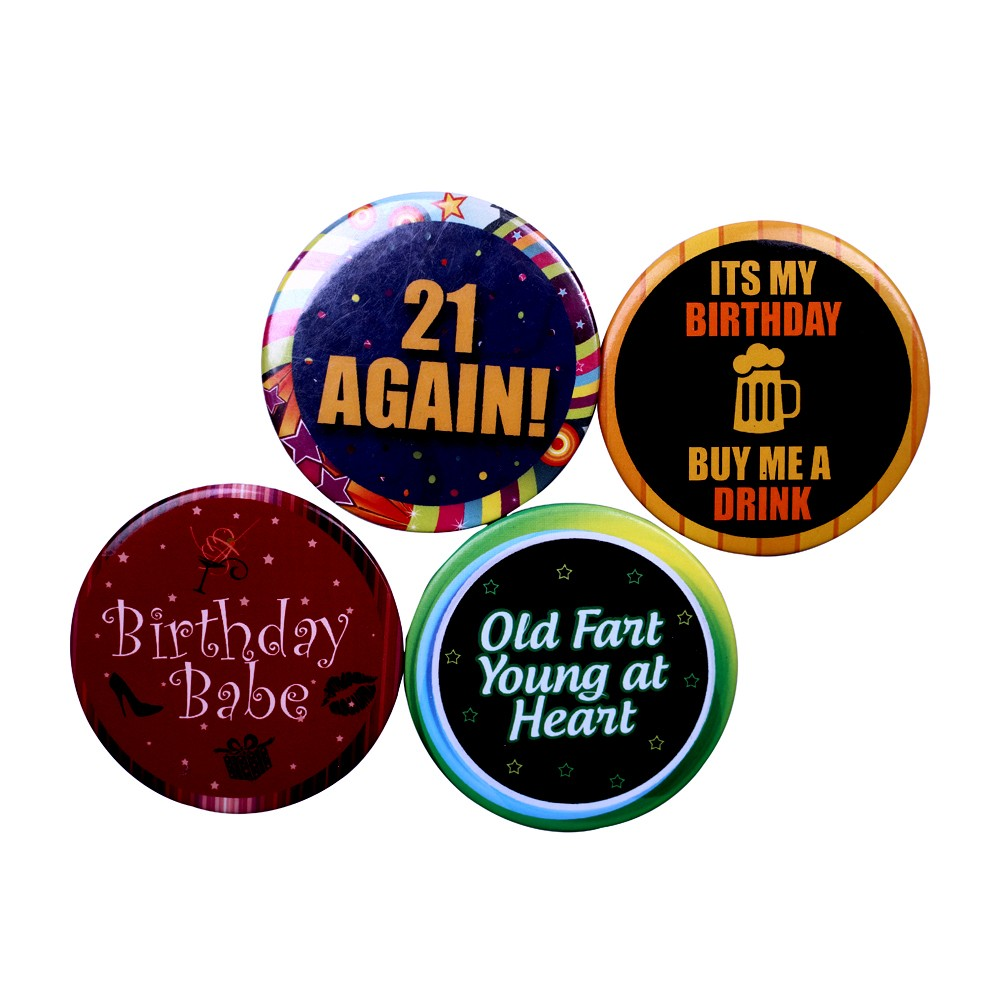 Birthday Badges (Set of 4)
