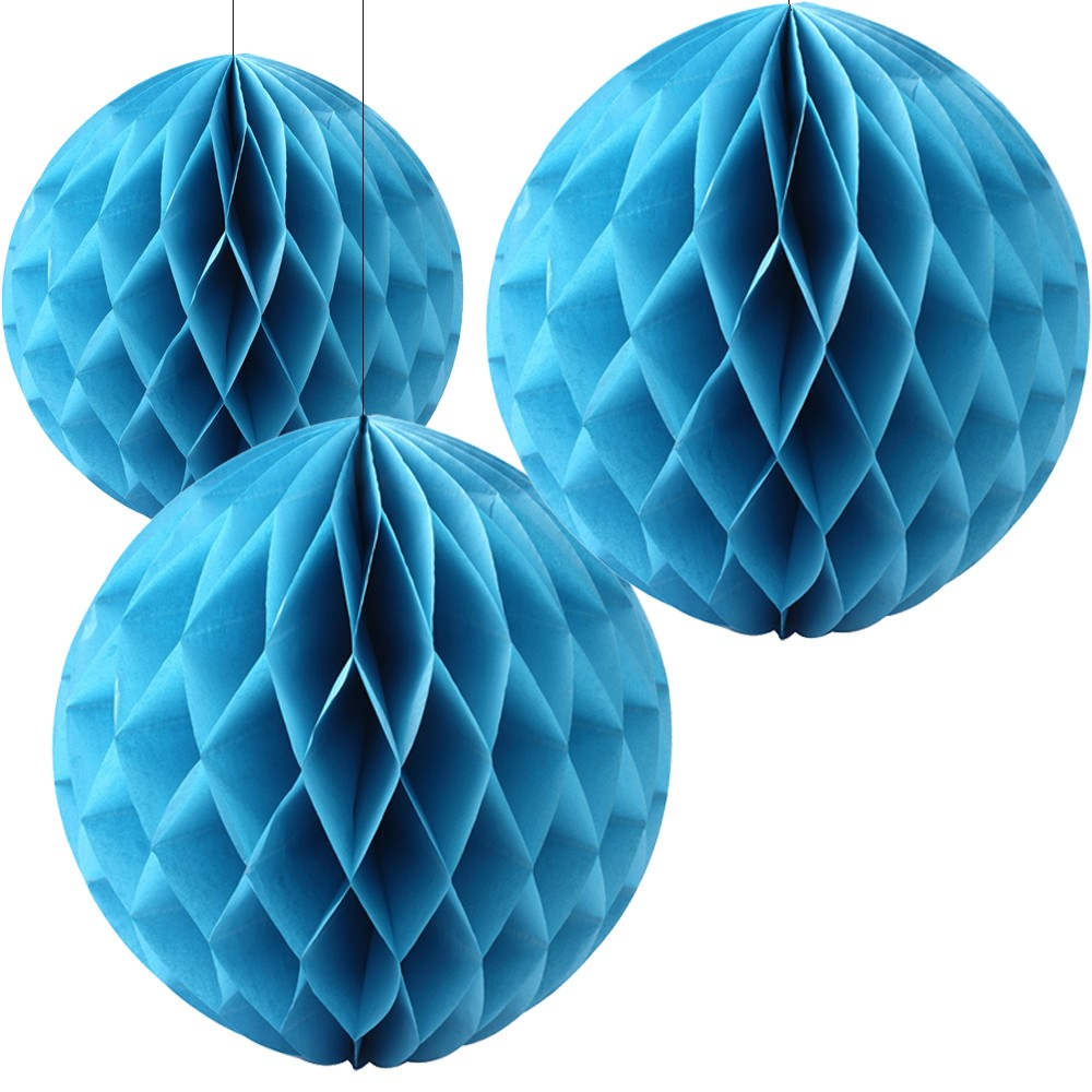 Blue Honeycomb Party Decoration- (Set of 3) 10""