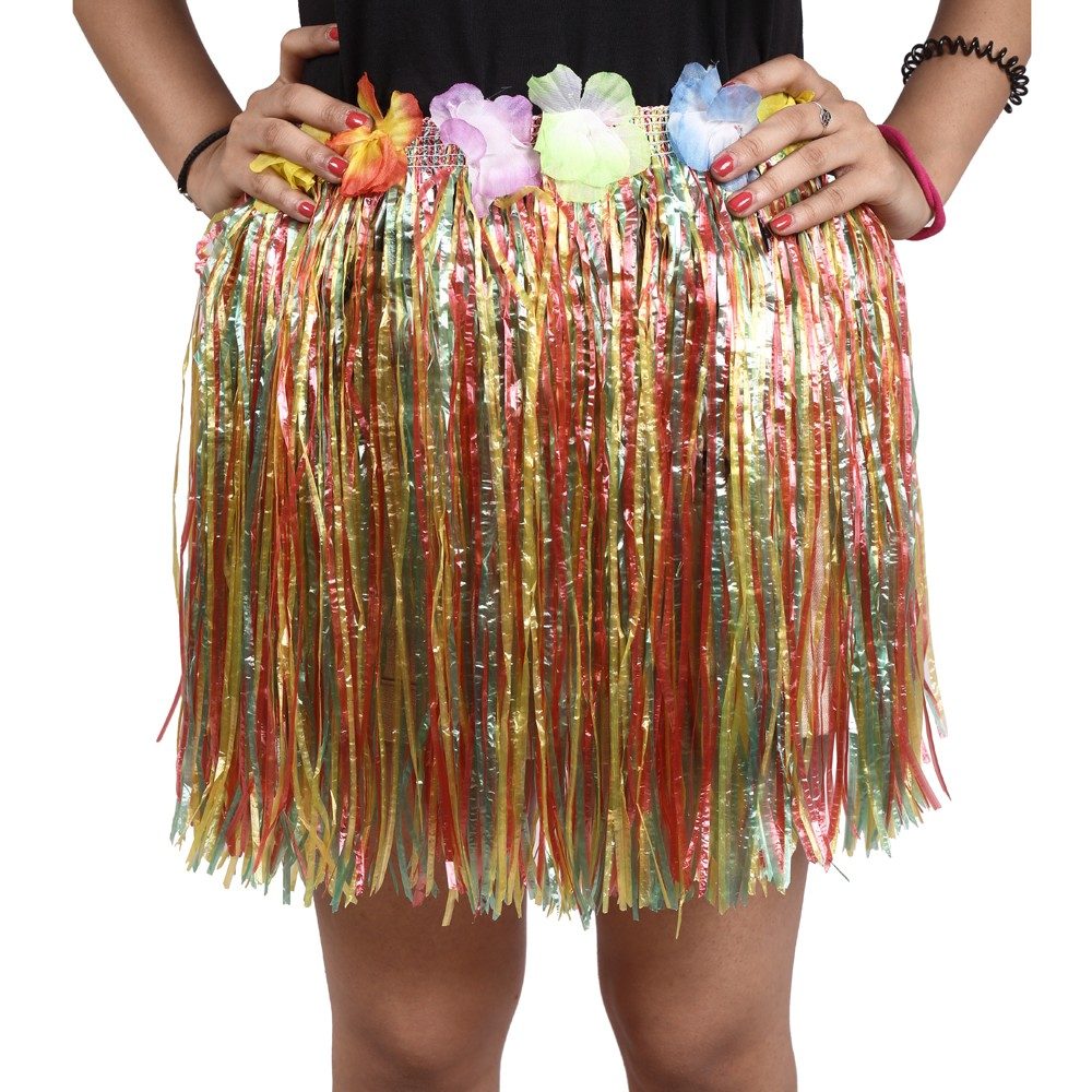 Multi Straw Hula Skirt Small