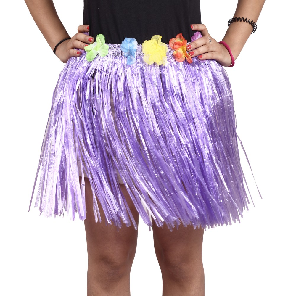 Purple Straw Hula Skirt Small