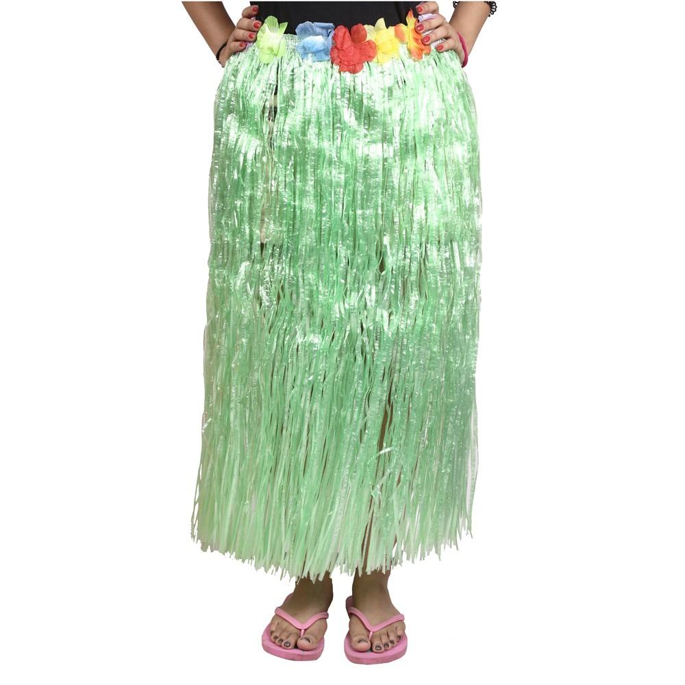 Green Straw Hula Skirt Large