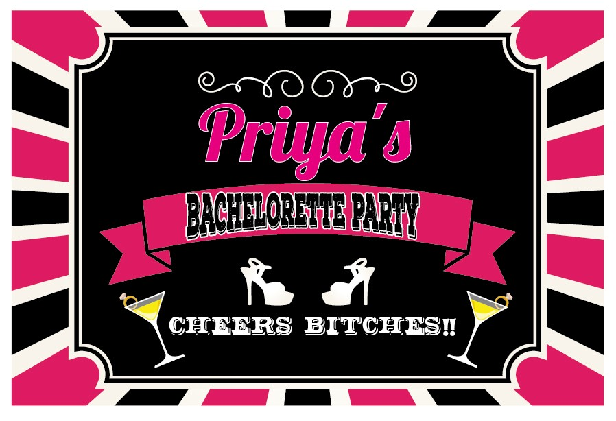 Cheers Bitches! Bachelorette Banner