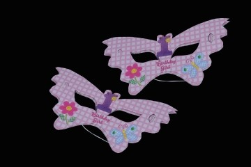 1st birthday girl Eye Masks (Set of 8)