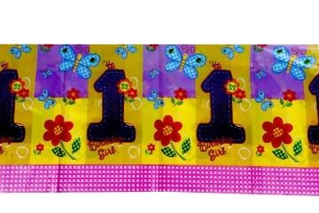 1st birthday girl table cloth