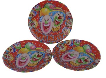Clown Plates (Set of 8)