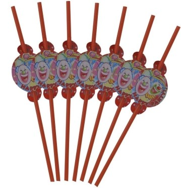 Clown Straws (Set of 8)