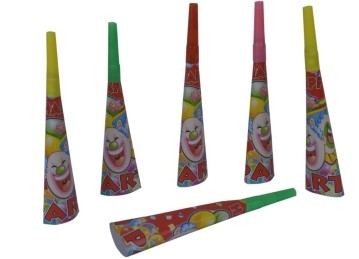 Clown Blow Horn (Set of 6)