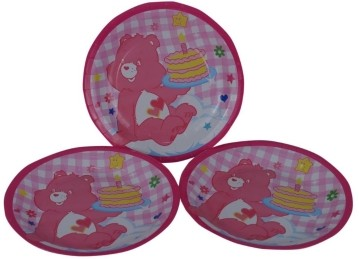 Pink Bear  Plates (Set of 8)