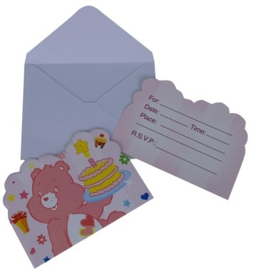 Pink Bear  Invitation Card (Set of 8)