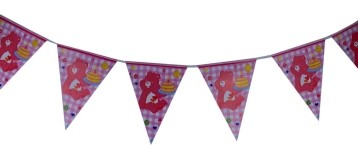 Pink Bear  Triangular banner
