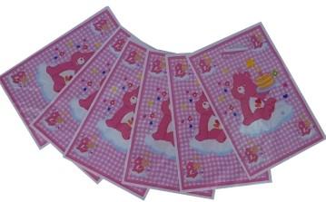 Pink Bear  Loot Bags (Set of 8)