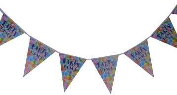 Party time  traingular banner