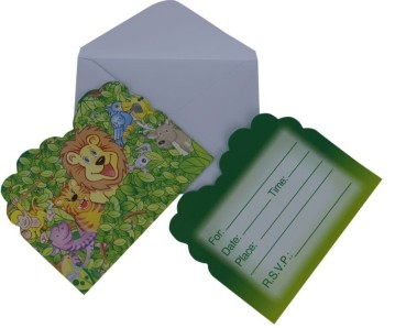 Forest Party  Invitation Card (Set of 8)