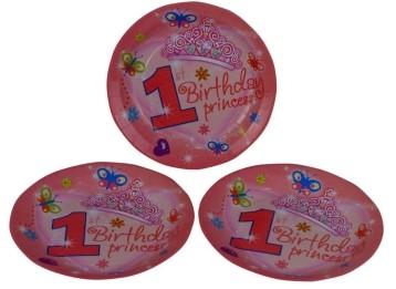 1st Birthday Princess Plates (Set of 8)