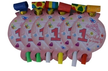 1st Birthday Princess  Blow outs (Set of 6)