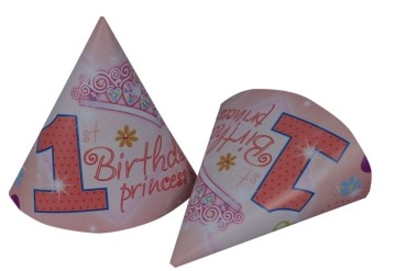 1st Birthday Princess  Caps (Set of 8)
