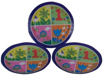1st Birthday  Plates (Set of 8)