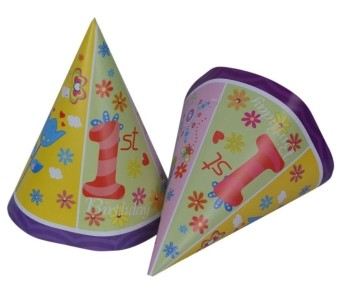 1st Birthday  Caps (Set of 8)