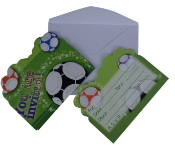 Football Invitation Card (Set of 8)