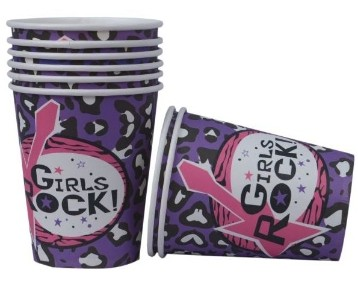 Girls Rock Cups (Set of 8)