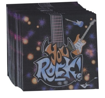 Rock  Napkins (Set of 20)