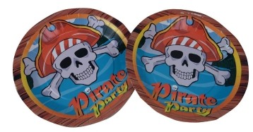 Pirate Party Plates (Set of 8)