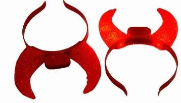 Red Gel Devil Horn Hairband