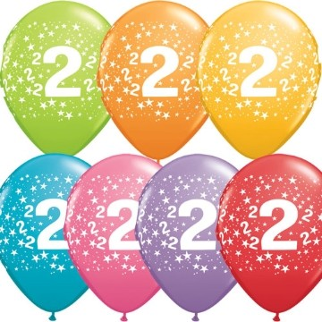 2nd printed latex balloons (set of 10)