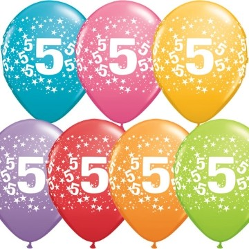 5th printed latex balloons (set of 10)