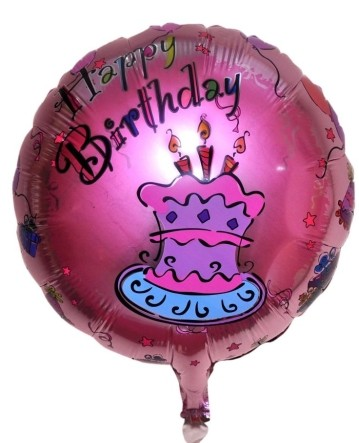 Pink Cake Foil Balloon