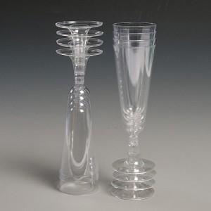 Plastic Champagne Flutes (Set of 6)