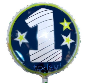 1 Today Foil Balloon - Blue