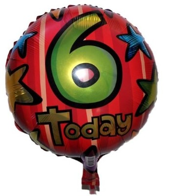 6 Today Foil Balloon