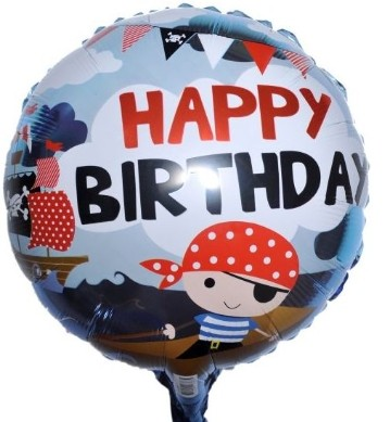 Pirate Bday Foil Balloon