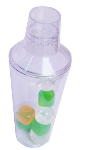 Cocktail Shaker with Ice Cubes
