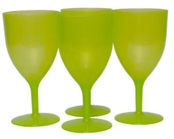Neon Plastic Glasses Set of 4