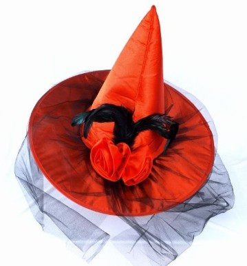 Red Witch Cap with Net
