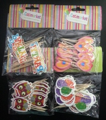 Party Toothpicks   Set of 24