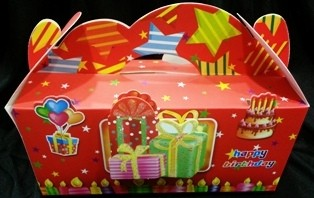 Red Birthday Treat Boxes