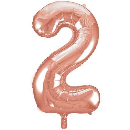 2 Number Rose Gold 40'' Foil Balloon