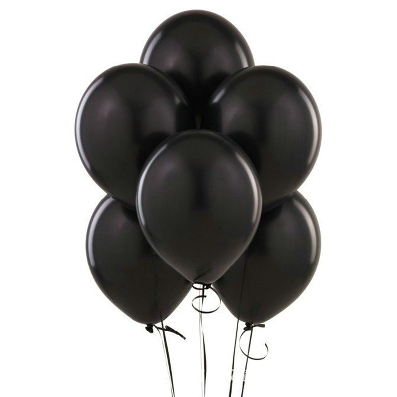 Black Pearl Latex Balloons- set of 10